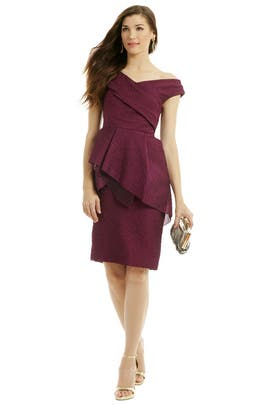 Lela Rose - Pump Up In Plum Sheath