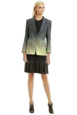 Matthew Williamson - Ombre Leopard Weave Blazer