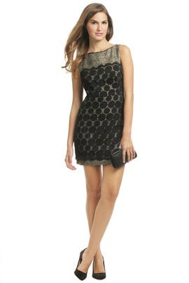 Milly - Black Lace Combo Dress