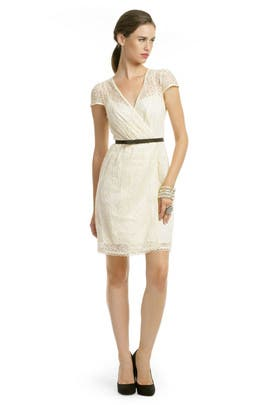 Milly - Ivory Lace Flutter Dress