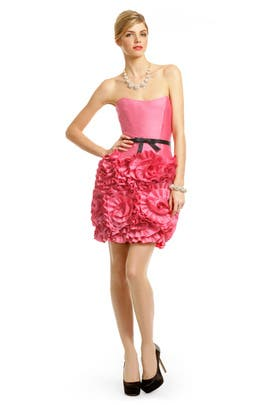 Milly - Pink Almond Rosette Dress