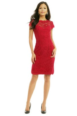 ML Monique Lhuillier - Sweet Candy Apple Sheath
