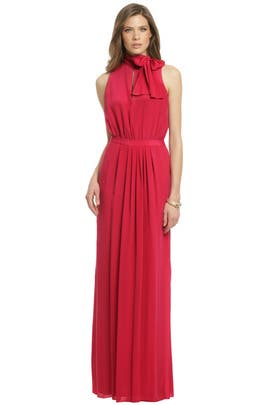 Moschino Cheap And Chic - Crimson Bow Tie Gown