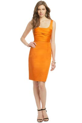 Moschino Cheap And Chic - Rust Rose Bodice Sheath