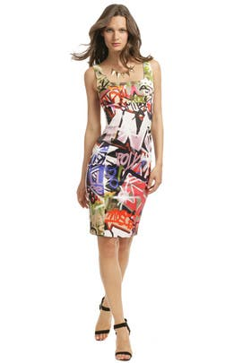 Moschino - Graffiti Art Sheath