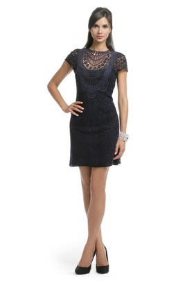 Nanette Lepore - Navy Lace Crew Dress