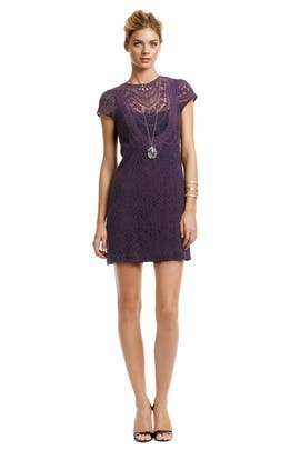 Nanette Lepore - Rustic Plum Lace Dress