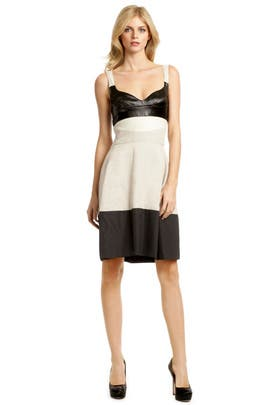 Narciso Rodriguez - Naturale Linen Colorblock Dress
