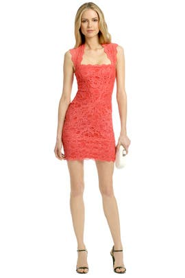 Nicole Miller - Coral Fair Lady Dress