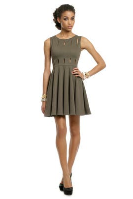 Opening Ceremony - Olive Peep Dress