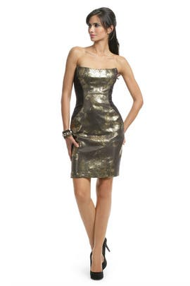 Peter Soronen - Metallic Gold Herrington Dress