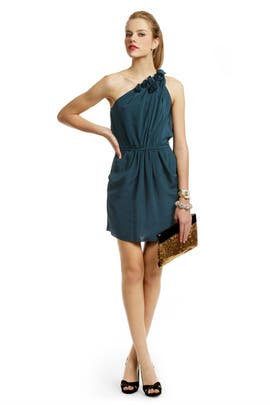 Rebecca Taylor - Teal Rosette Tie Dress