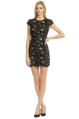 Robert Rodriguez Collection - Cap Sleeve Swirl Mini