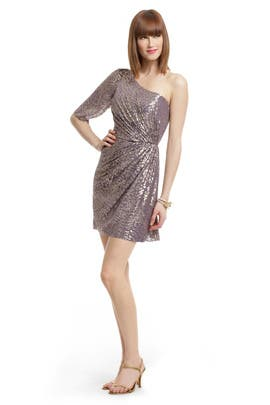 Shoshanna - Metallic Filcoupe Shimmer Dress