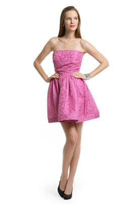 Shoshanna - Pink Digital Skirt Dress
