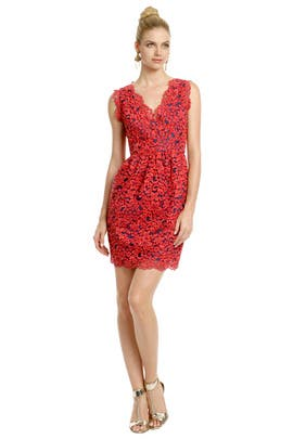 Shoshanna - Primary Lace Dress