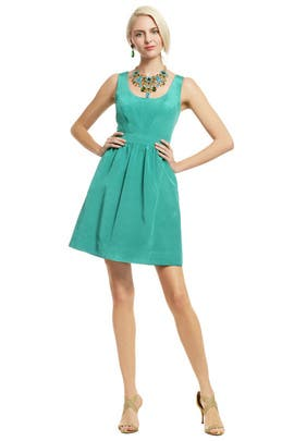Shoshanna - Teal Pearl of Wisdom Dress
