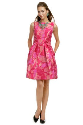 Theia - Fuchsia Palm Party Dress