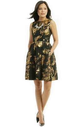 Theia - Gold Stroke Dress