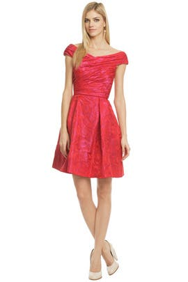 Theia - Hybrid Tea Rose Dress