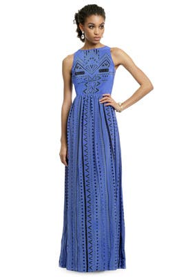Tibi - Into the Blue Tribal Gown