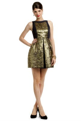 Tibi - Metallic Jacquard Dress
