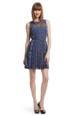 Tibi - Pleated Print Dress