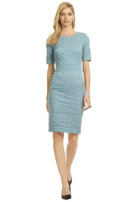 Vera Wang - Blue Ripple Marks Sheath