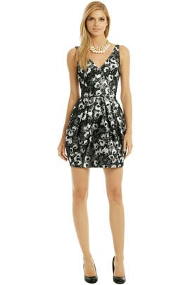 Vera Wang - Bubble Floral Pop Dress