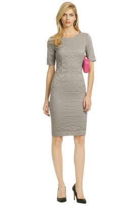 Vera Wang - Gray Ripple Marks Sheath