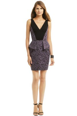 Yoana Baraschi - Purple Rain Peplum Dress