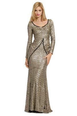 Z Spoke Zac Posen - Sequin Sand Ripple Gown