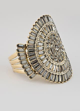Badgley Mischka Art Deco Bling Cuff