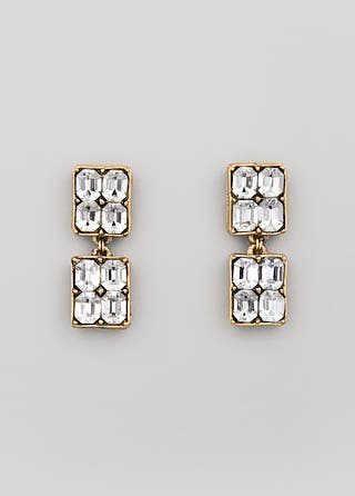 Trudelle Laker Vintage Cube Earrings