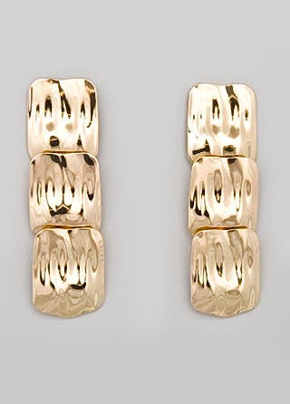 Tulesta Market Hammered Squares Earrings