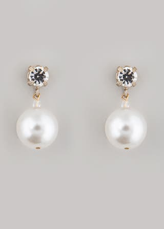 Lee Angel Pearl Drop Earrings
