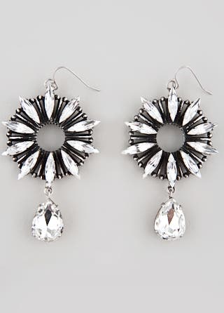 RJ Graziano Crystal Burst Earrings