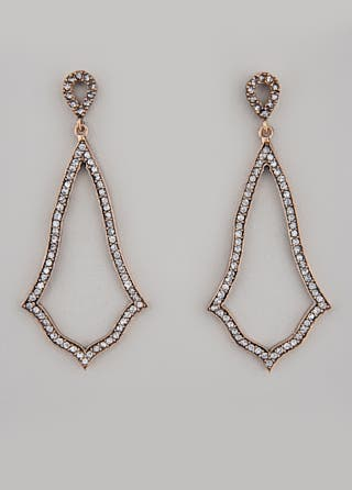 Azaara Crystal Bell Earrings