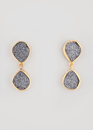 Smokey Droplet Earrings