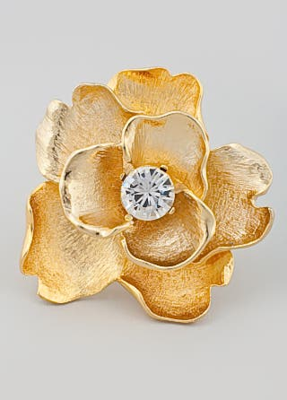 Kenneth Jay Lane Oversize Flower Ring