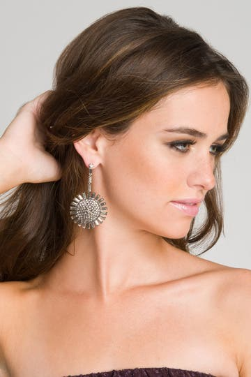 Janis Savitt Crystal Sunshine Earrings