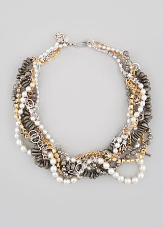 Chan Luu Braided Chain and Stone Necklace
