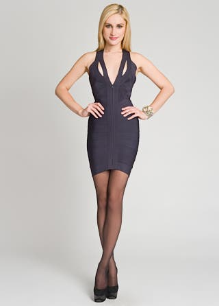 Herve Leger Dark Knight Bandage Dress