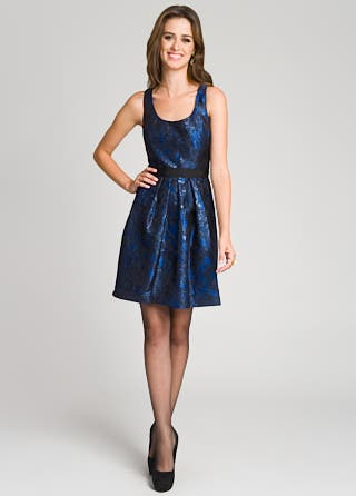 Lela Rose Retro Brocade Dress