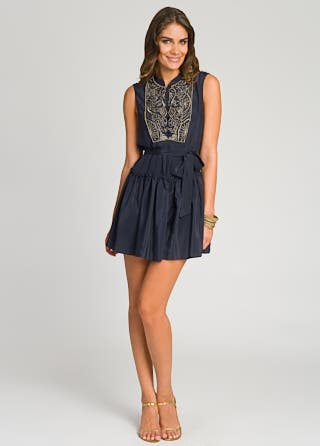 Gryphon Beaded Bib Flirty Dress