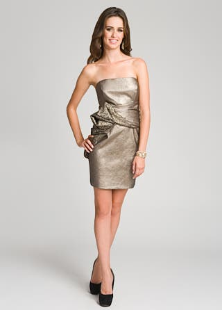 Mark and James by Badgley Mischka Metallic Leather Vixen Dress