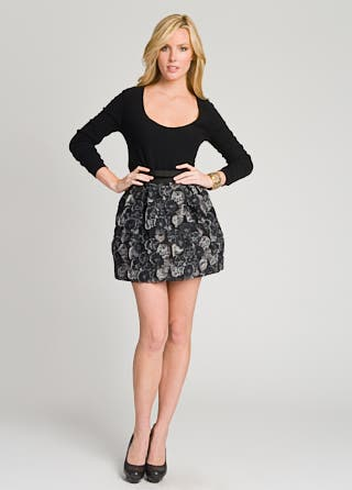 Rosette Flower Puff Skirt
