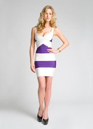 Herve Leger Post X Front Dress