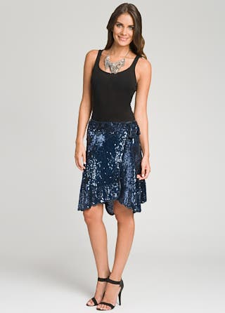 Gryphon Sequin Wrap Skirt