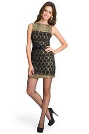 Bow Belt Combo Lace Dress